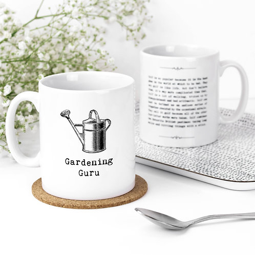 Gardening Guru Inspiring Quotes Mug for Gardeners