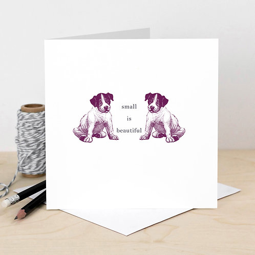 Small is Beautiful Cute New Baby Card