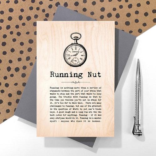 Running Nut Wooden Keepsake Card for Runners