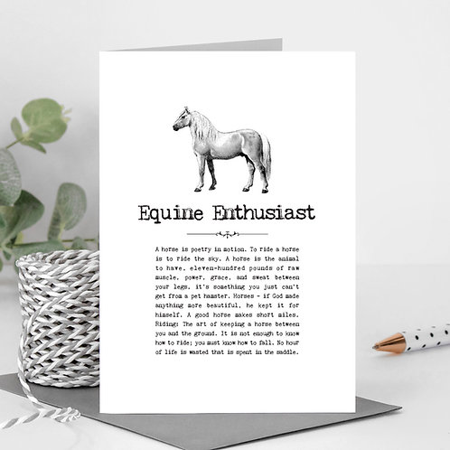 Horses Greeting Card with Quotes