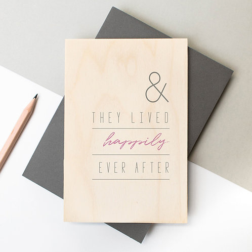 Happily Ever After Wooden Keepsake Card