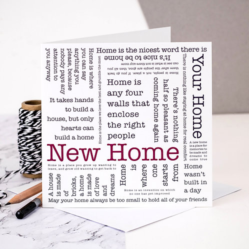 New Home Housewarming Quotes Card x 6