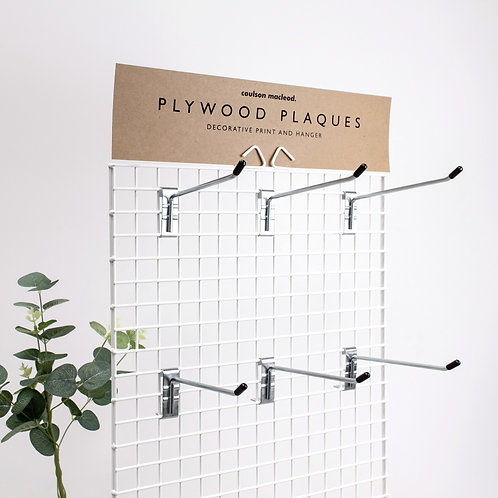 Wire POS Unit for Hanging Wooden Plaques (Unfilled)