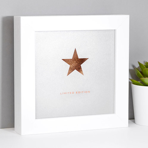 Limited Edition Grey Star Mini Framed Print