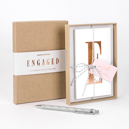 Engaged | Luxury Boxed Concertina Card x 3