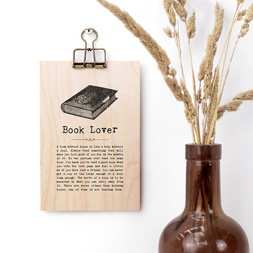 Books Quotes Wooden Plaque with Hanger x 3