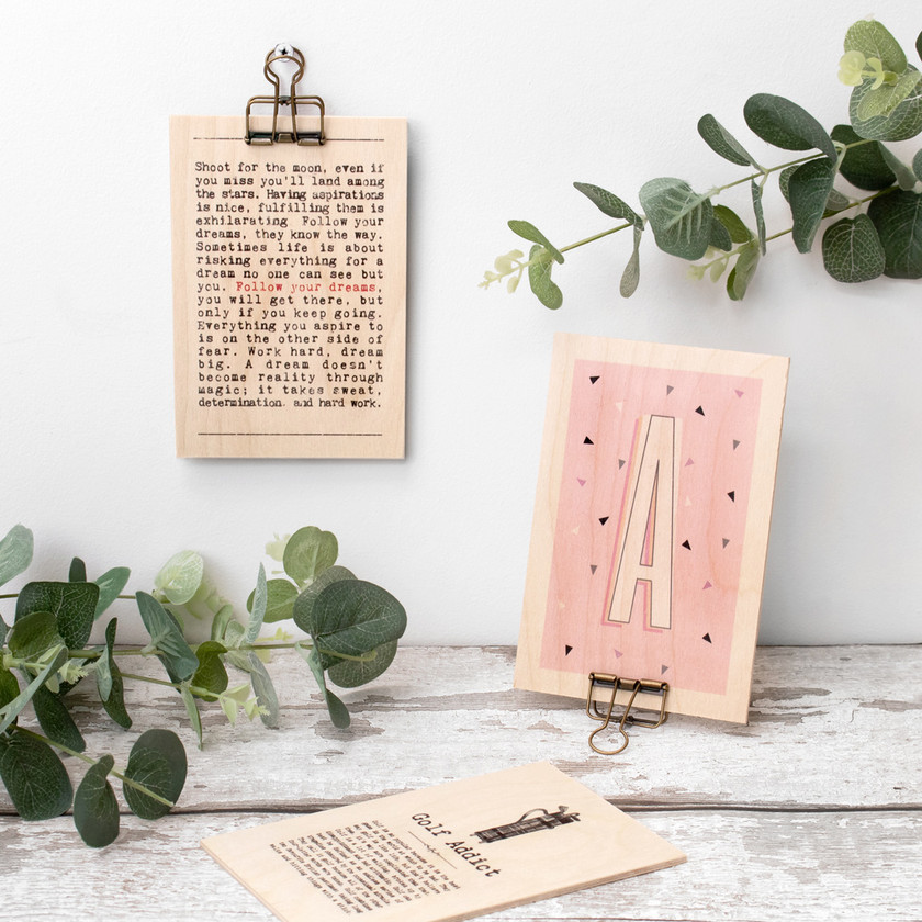 Hanging Wooden Quote Signs