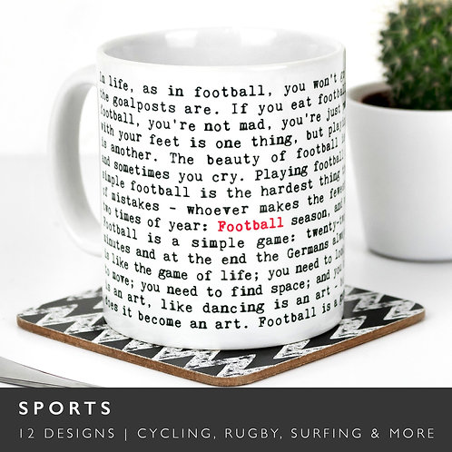 Wise Words SPORTS Mugs (14 Designs) x 3