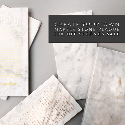 Create your Own Marble Plaque SECONDS SALE