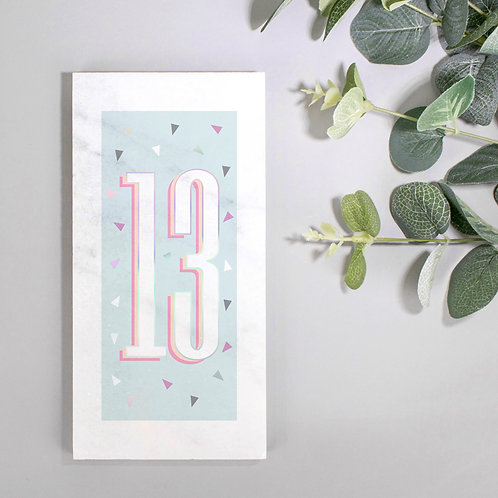Age/Number Holographic Marble Print x 3
