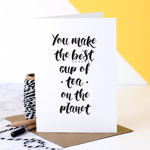 Best Cup of Tea Award Greeting Card