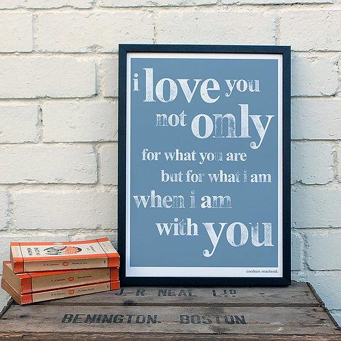 I Love You A3 Print x 10 (Mega Discount Bundle £1.75 EACH)