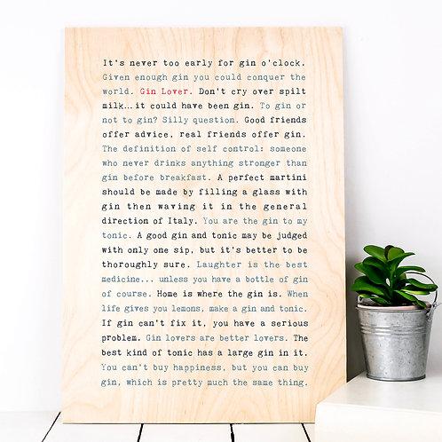 Wise Words FOOD & DRINK Plywood Prints (13 Designs)