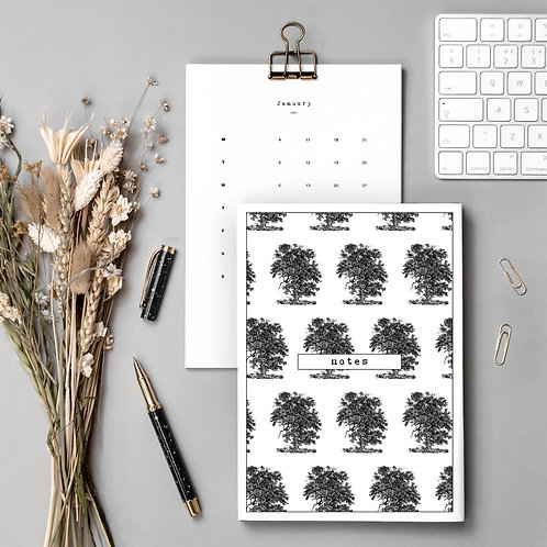Countryside Gift Set with Calendar and Notebook