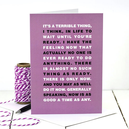 Hugh Laurie Motivational Quote Card
