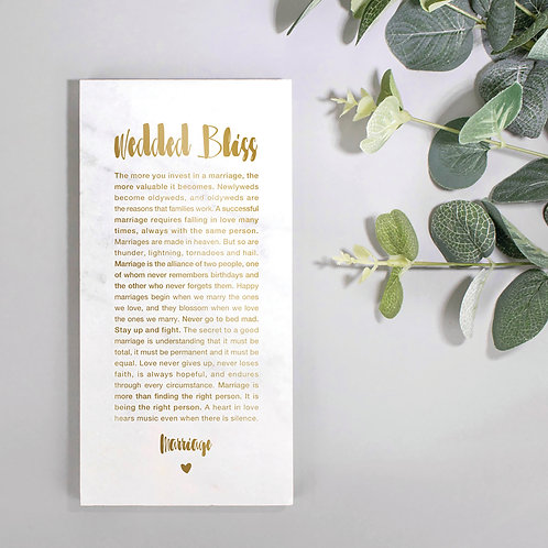 Wedded Bliss Metallic Marble Print x 3