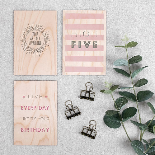 Wooden Quote Signs Mix and Match Set of 3