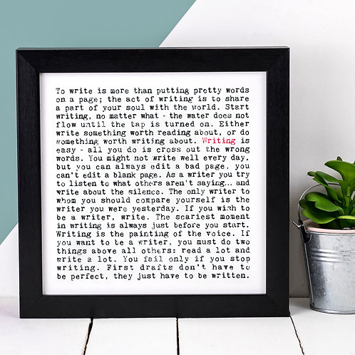 Writing Wise Words Print x 3
