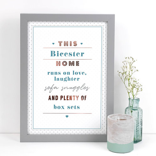 Love, Laughter and Box Sets Personalised A4 Dotty Print  x 3