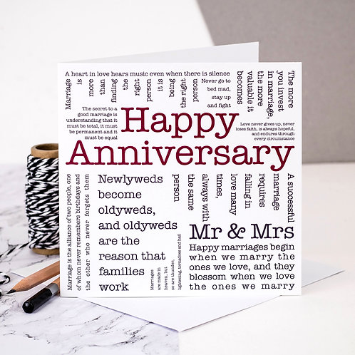 Happy Anniversary Love Quotes Card