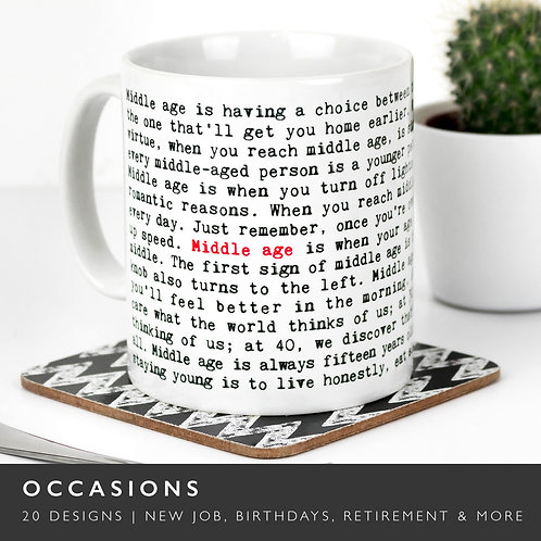 Wise Words OCCASIONS Mugs (21 Designs) x 3