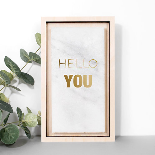 Hello You Gold Marble Print x 3