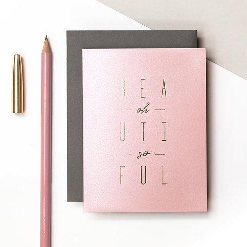 Oh So Beautiful Metallic Card | Precious Metals