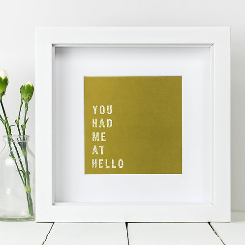 Hello Square Print x 10 (Mega Discount Bundle £1.75 EACH)