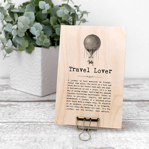 Travel Quotes Mini Wooden Sign with Hanger