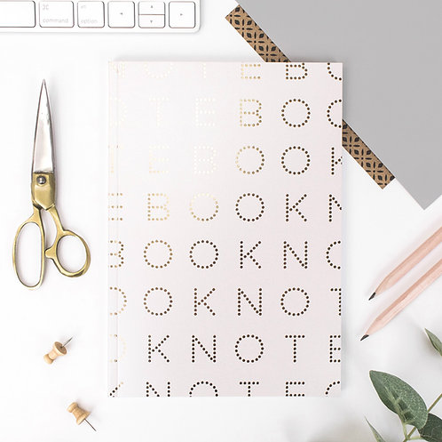Precious Metals A5 Oyster & Gold Notebook x 3
