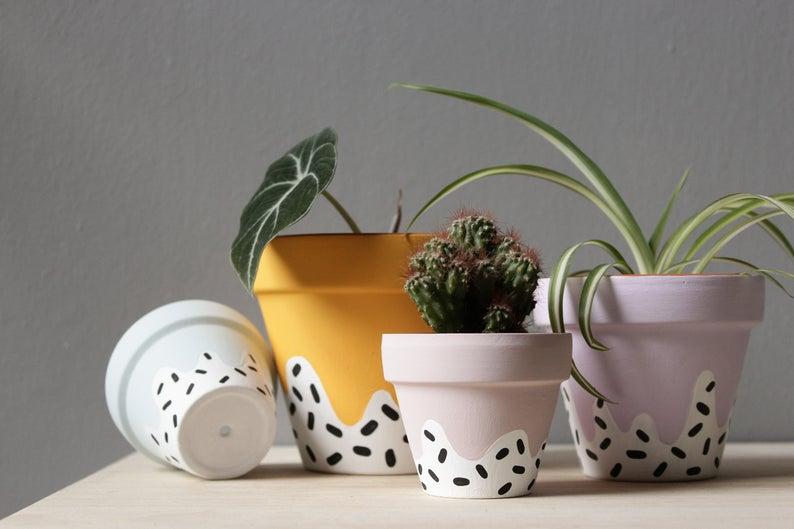 Hand Painted Plant Pots