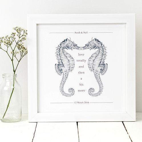 Seahorse 'Love Totally' Love Print