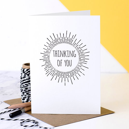 Thinking of You Monochrome Sympathy Card