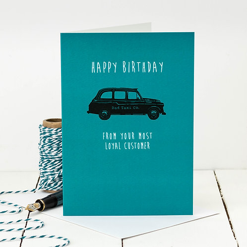 Taxi Driver Funny Birthday Card for Dad x 6