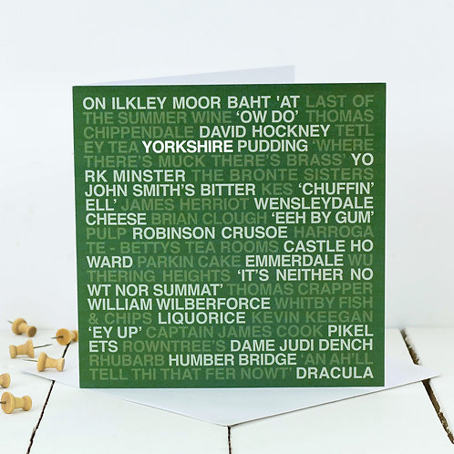 No Place Like Yorkshire Greeting Card