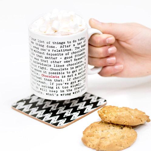 Chocolate Lovers Quotes Mug