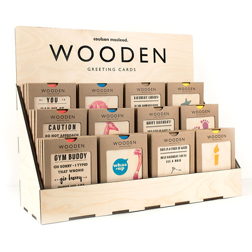 20 Packs of Wooden Cards + FREE POS Unit