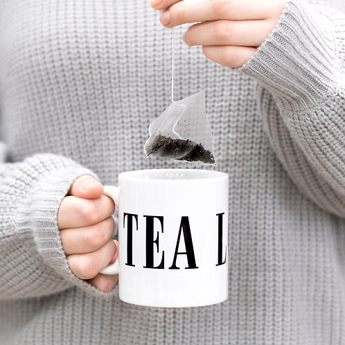 Monochrome TEA LOVER Mug