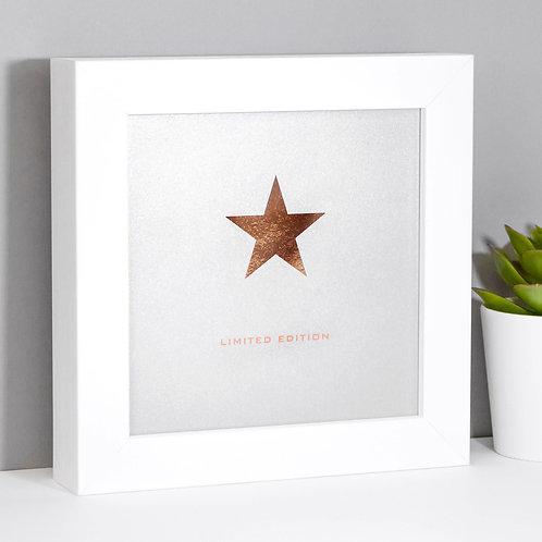 Limited Edition Rose Gold Foil Framed Print x 3