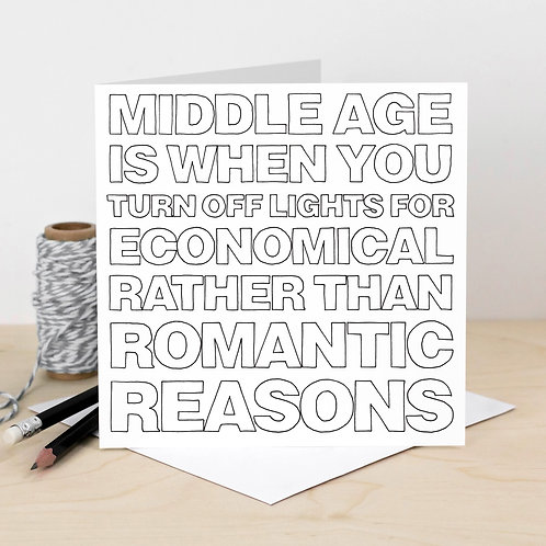 'Middle Age' Outline Card
