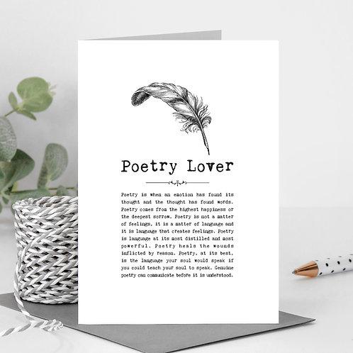 Poetry Vintage Words Greeting Card x 6