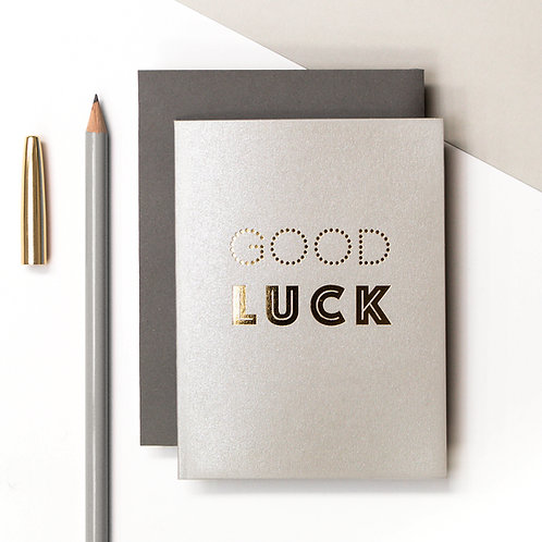 Good Luck Mini Metallic Card | Precious Metals