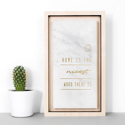 Home is the Nicest | Gold Marble Plaque