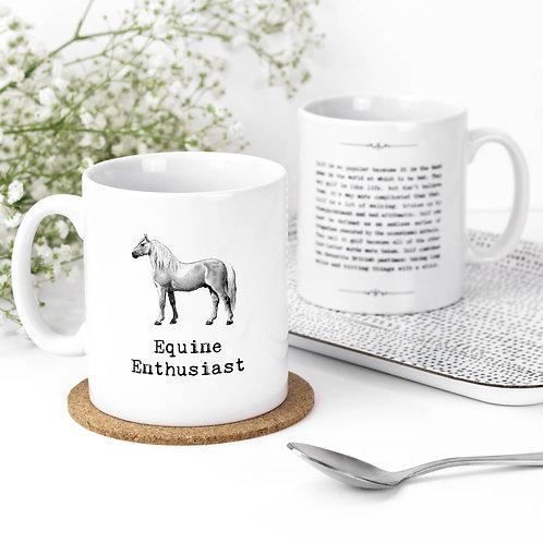 Equine Enthusiast Vintage Words Quotes Mug x 3