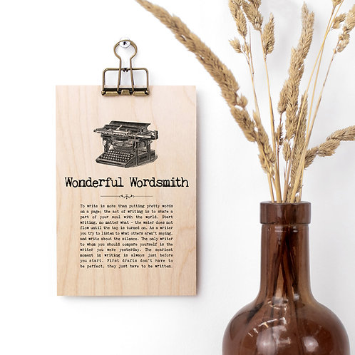Writing Quotes Wooden Plaque with Hanger x 3