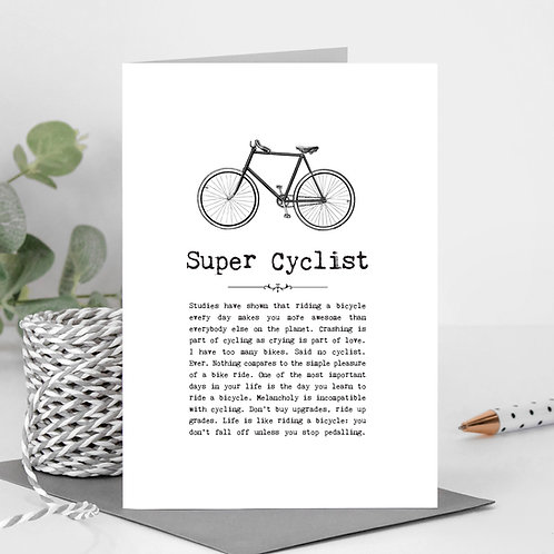 Cycling Greeting Card with Funny Quotes