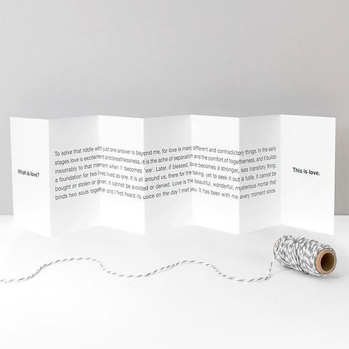 What is Love? Concertina Card x 6