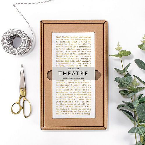 Theatre Quotes Hand-Finished Plaque for Actors