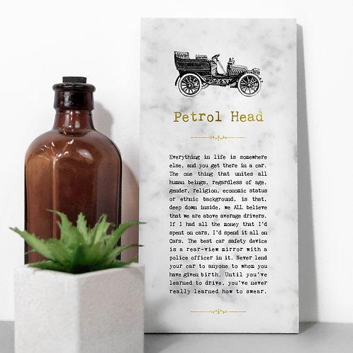 Petrol Head Vintage Car Stone Plaque x 3