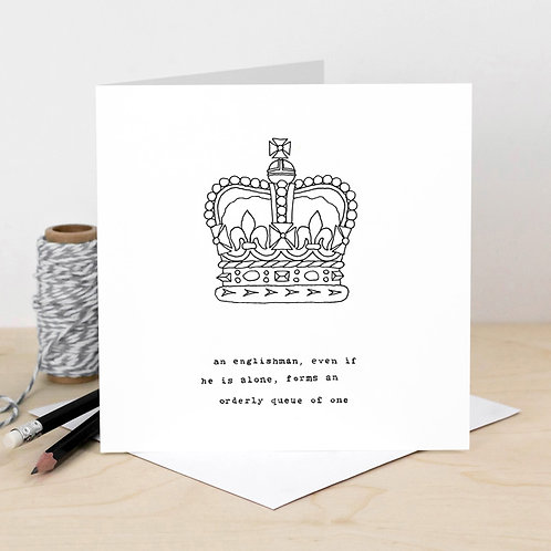 Funny Greeting Card English Queues